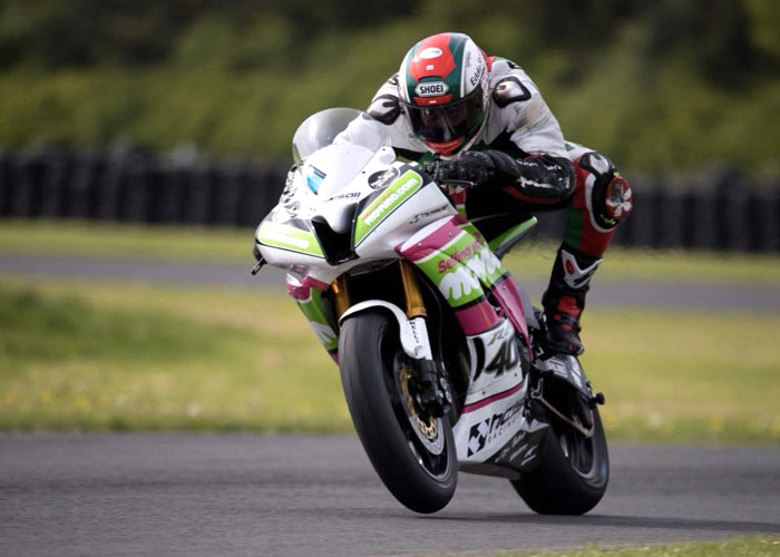 HALSALL RACING SUPPLIES DALEY MATHISON WITH SUPERSPORT BIKE FOR ISLE OF MAN TT